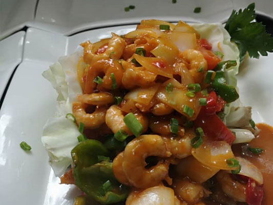 Enchilado shrimp.